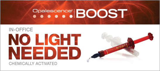 Boost teeth whitening requires no special light and provides great results