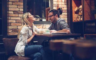 Man & woman on a romantic date