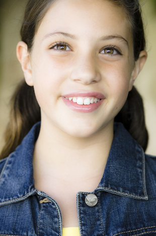 tween girl smiling
