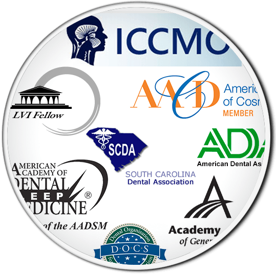 Logos of dental associations for a Columbia dentist you can trust