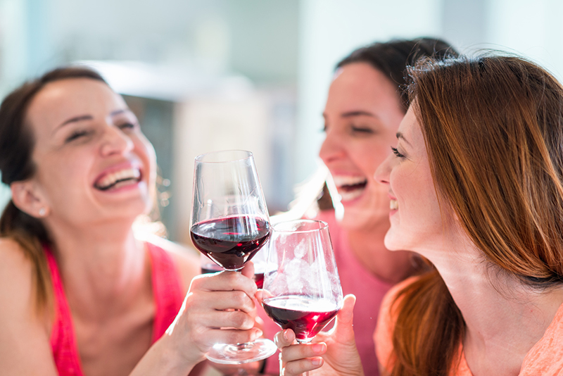 Red wine can stain teeth